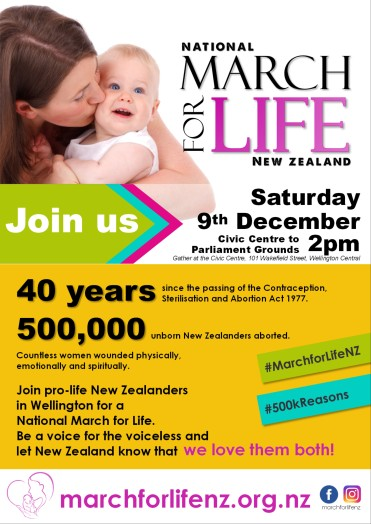 March for Life New Zealand December 9 2017 Wellington