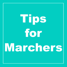 Tips for Marchers
