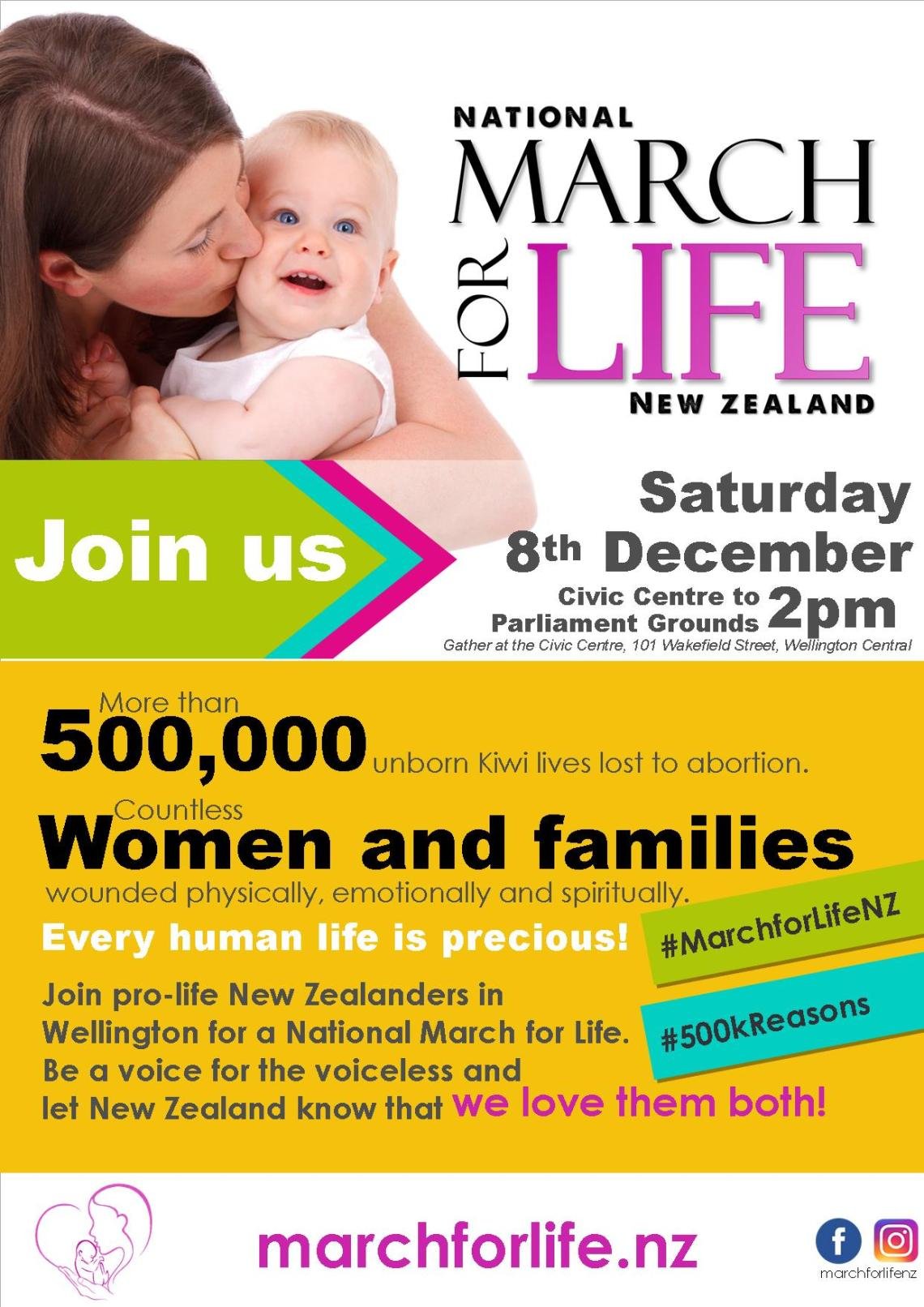 March for Life 2018 POSTER AND PAMPHLET FRONT