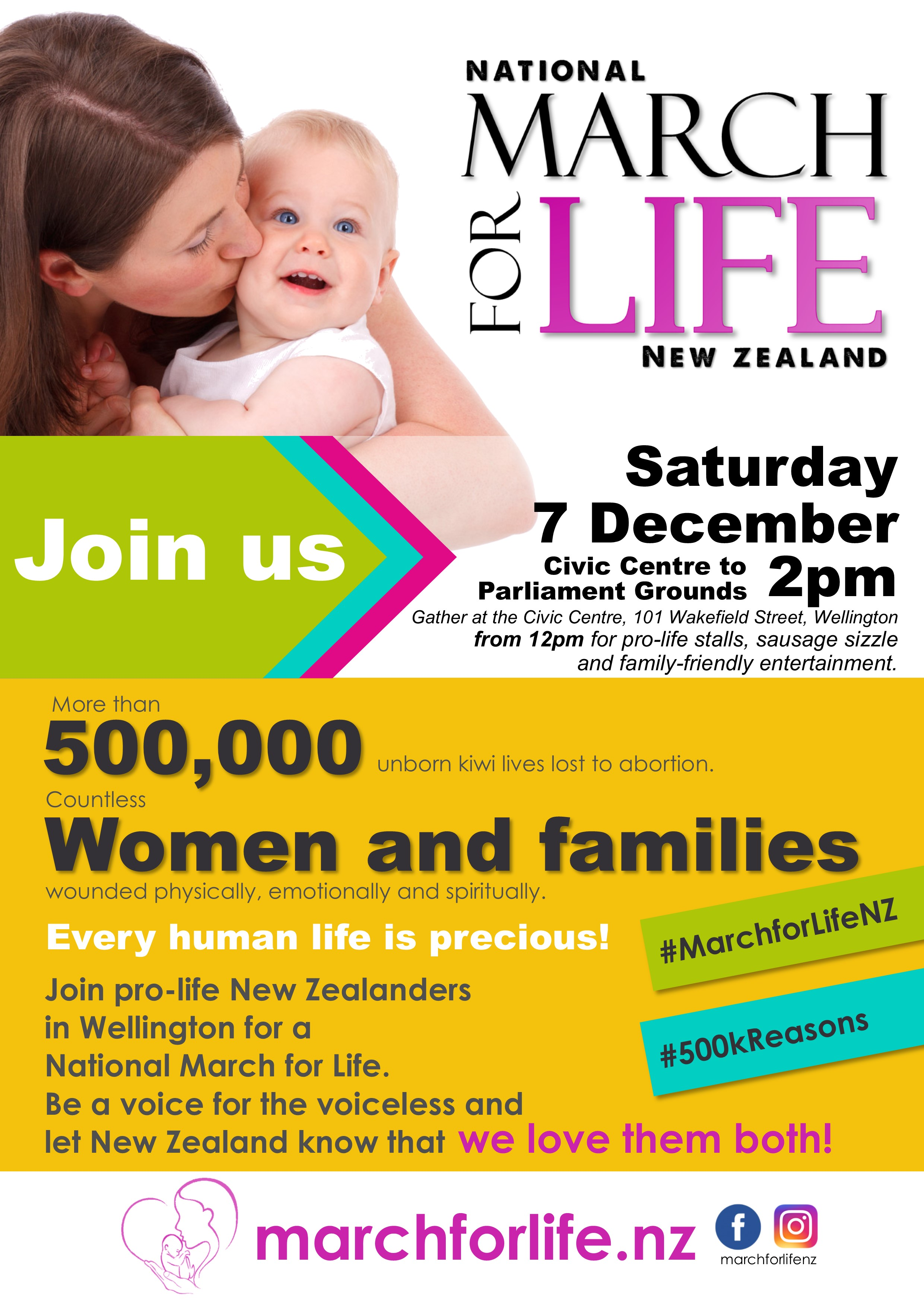 National March for Life 2019 Flyer